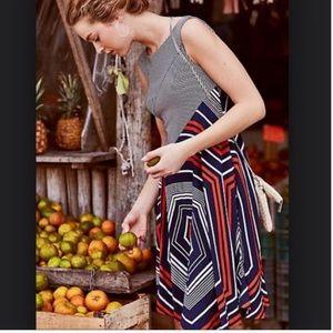 Anthro Maeve Asymmetrical Sleeveless Dress